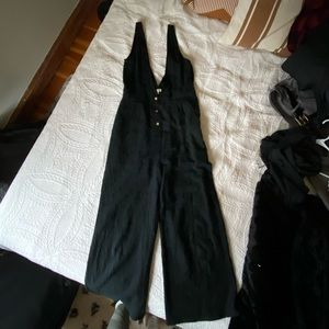 Black Overall Jumpsuit One Piece Outfit NWOT